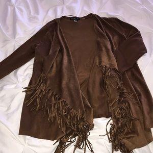 Brand new fringe suede jacket high quality